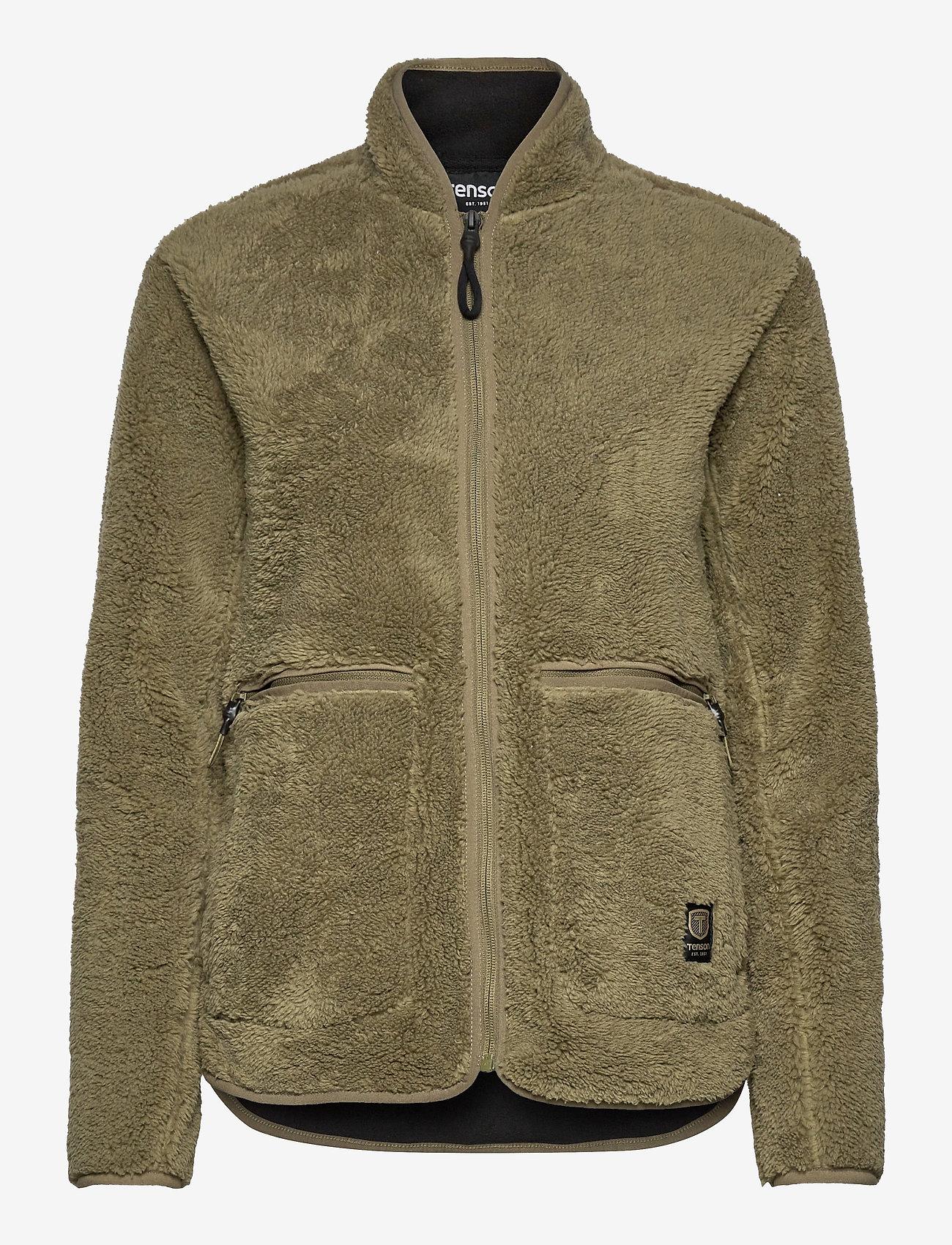 Tenson - Nechako Pile Jkt W - outdoor & rain jackets - olive - 0