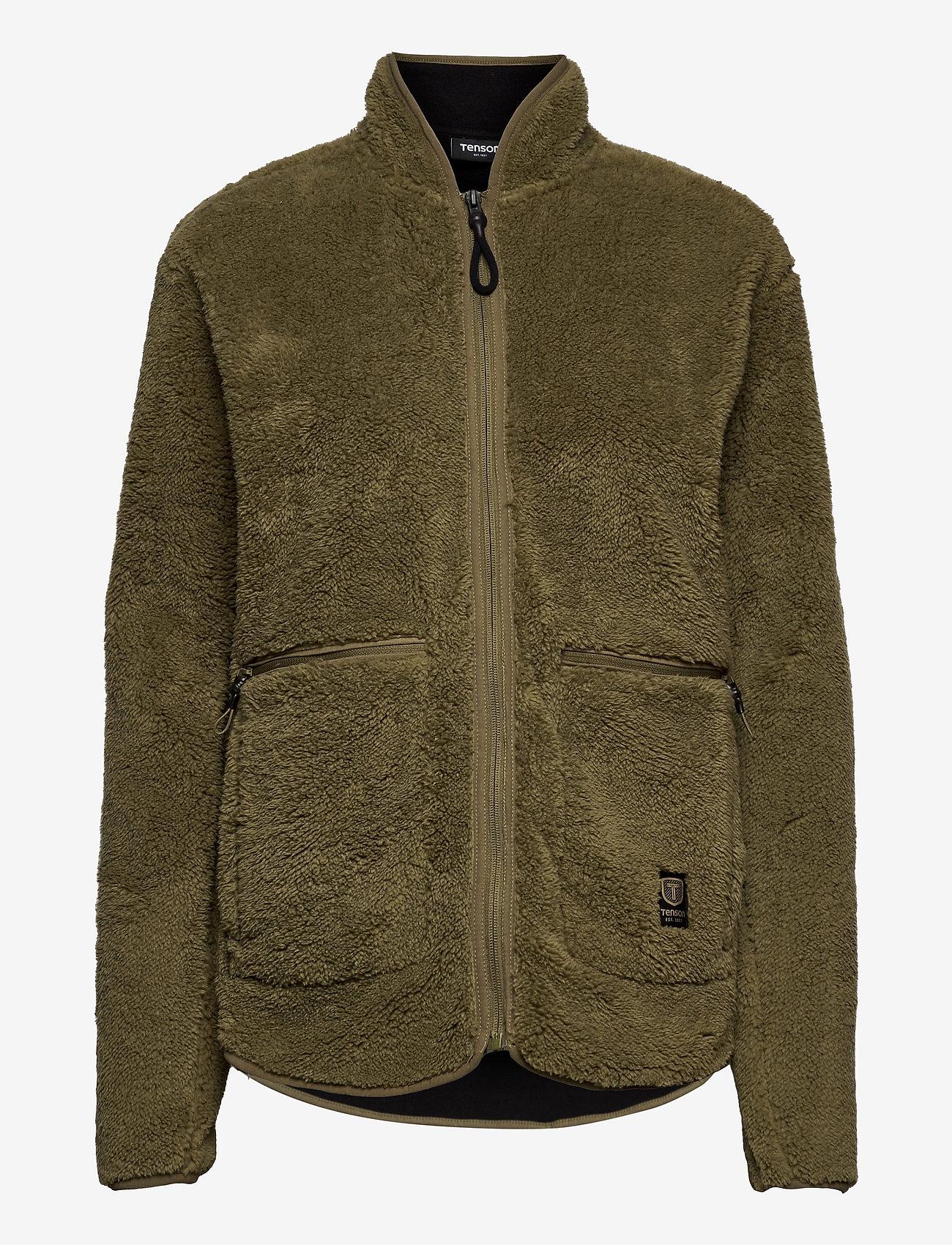 Tenson - Nechako Pile Jkt M - basic-sweatshirts - olive - 0