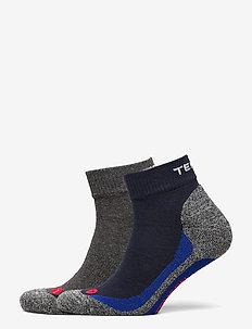 2 pk BasicTrekQ - ankle socks - black