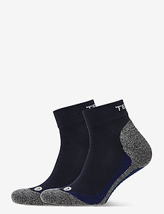 QUARTER 2-PACK - ankle socks - blue