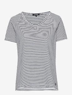 Joni - striped t-shirts - dark blue