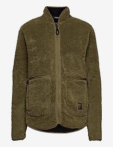 Nechako Pile Jkt M - basic sweatshirts - olive