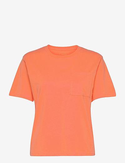 Seaside Tee W - t-shirts - dark orange