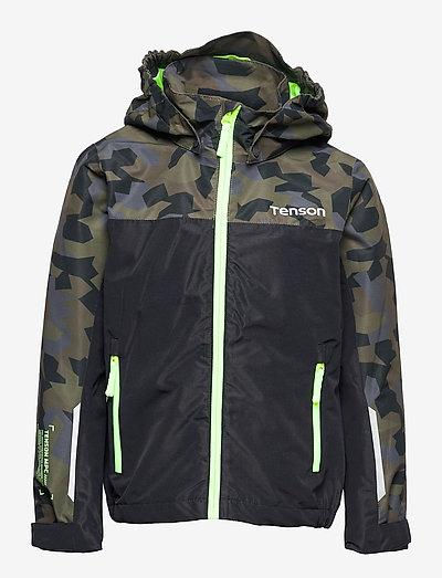Wave Jacket jr - shell- & regenjassen - dark green