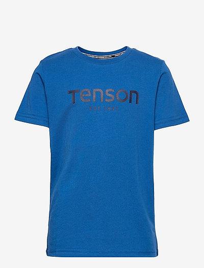 Logo Tee Junior - korte mouwen - blue