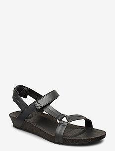 W Ysidro Universal - Metallic - flate sandaler - gunmetal
