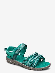 K Tirra - sandaler - camino metallic teal blue