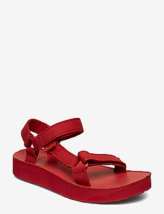 W Midform Universal Leather - flate sandaler - racing red
