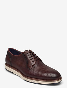 Casual derby shoe - laced shoes - brown