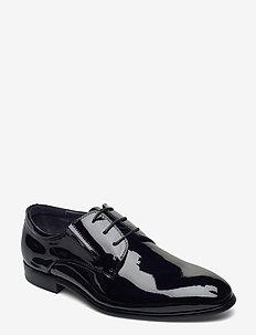 Patent derby shoe - veter schoenen - black