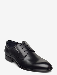 Laced derby shoe - laced boots - black