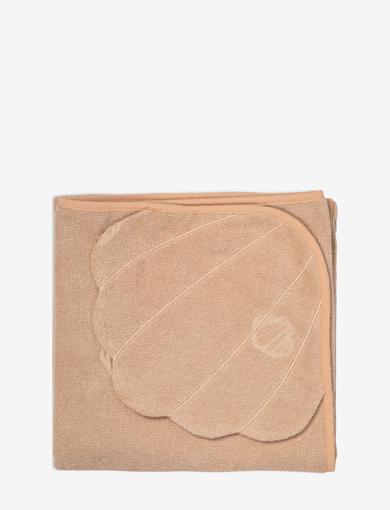 Hodded towel shell dusty rose