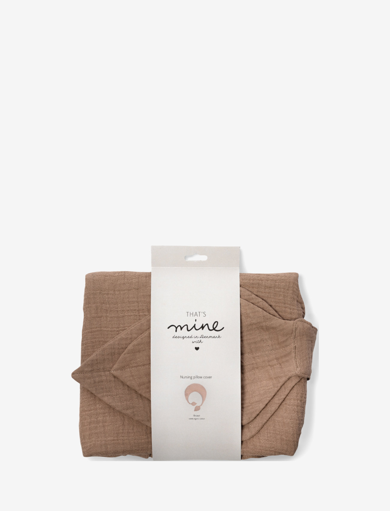 Nursing pillow cover brown large
