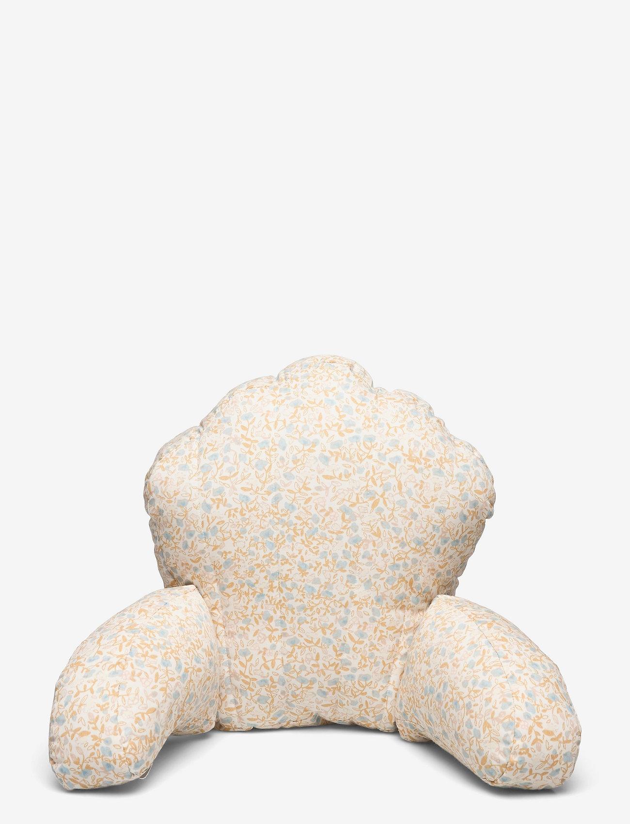 Pram pillow mini flower blue