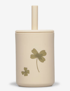 Cup with straw silicone - Clover meadow - schnabeltassen - clover meadow