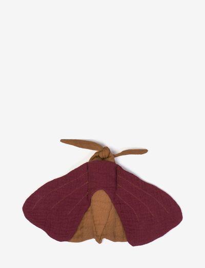 Cuddle cloth moth - fopspeen deken - plum
