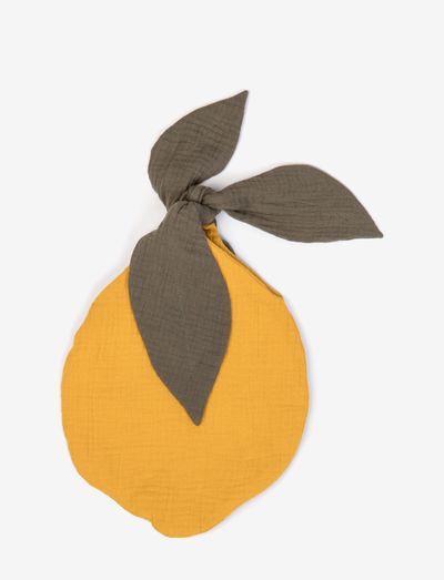 Fruit bag lemon - fopspeen deken - ochre
