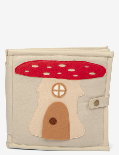 Felt playing book mice - activity toys - beige