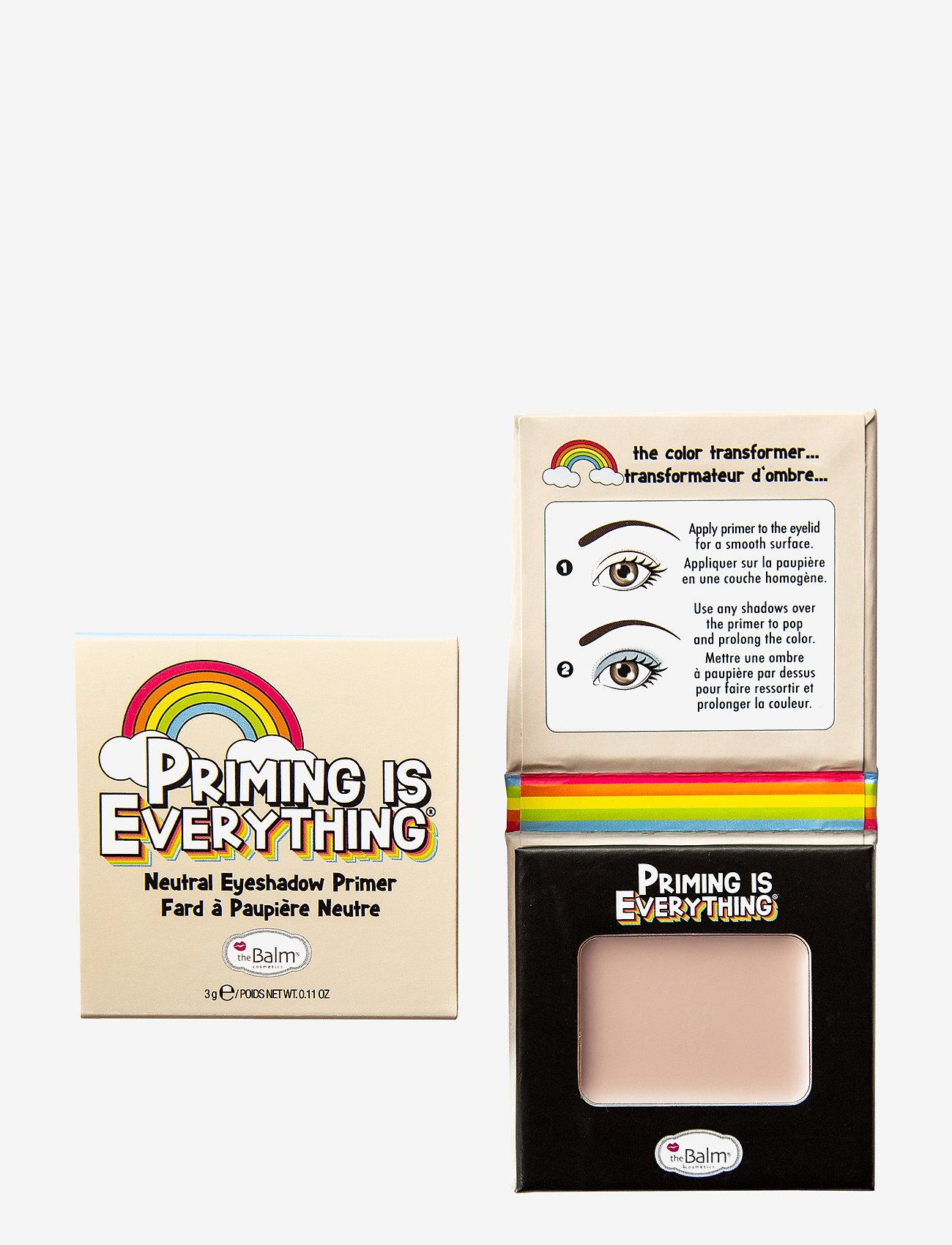 The Balm - PRIMING IS EVERYTHING® Eyeshadow Primer - Ögonprimer - neutral primer - 1