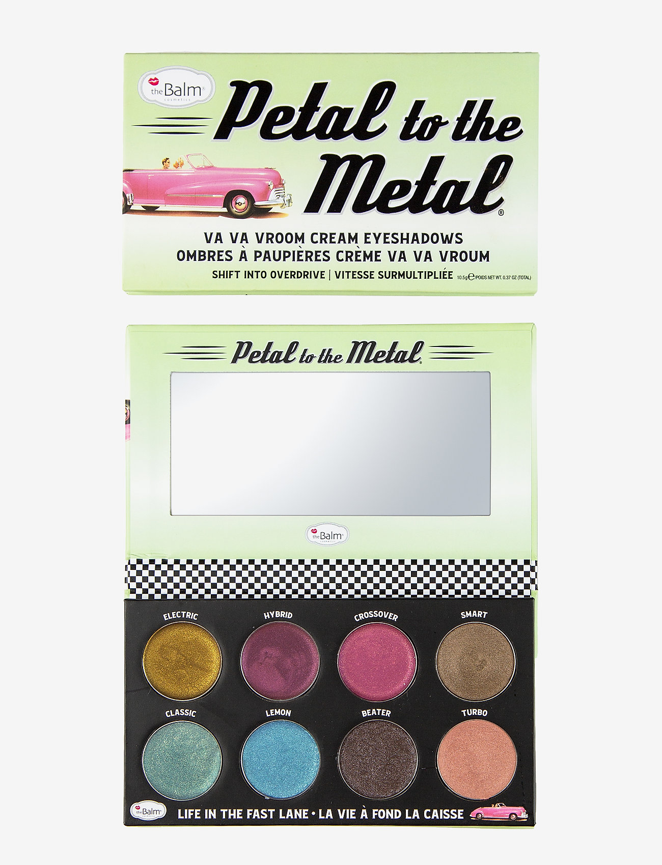 The Balm - PETAL TO THE METAL® SHIFT INTO OVERDRIVE Cream Eyeshadow - Øjenskyggepalet - overdrive - 1