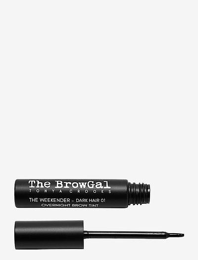 The Weekender Overnight Brow Tint - Ögonbrynsgel - 01 - dark hair