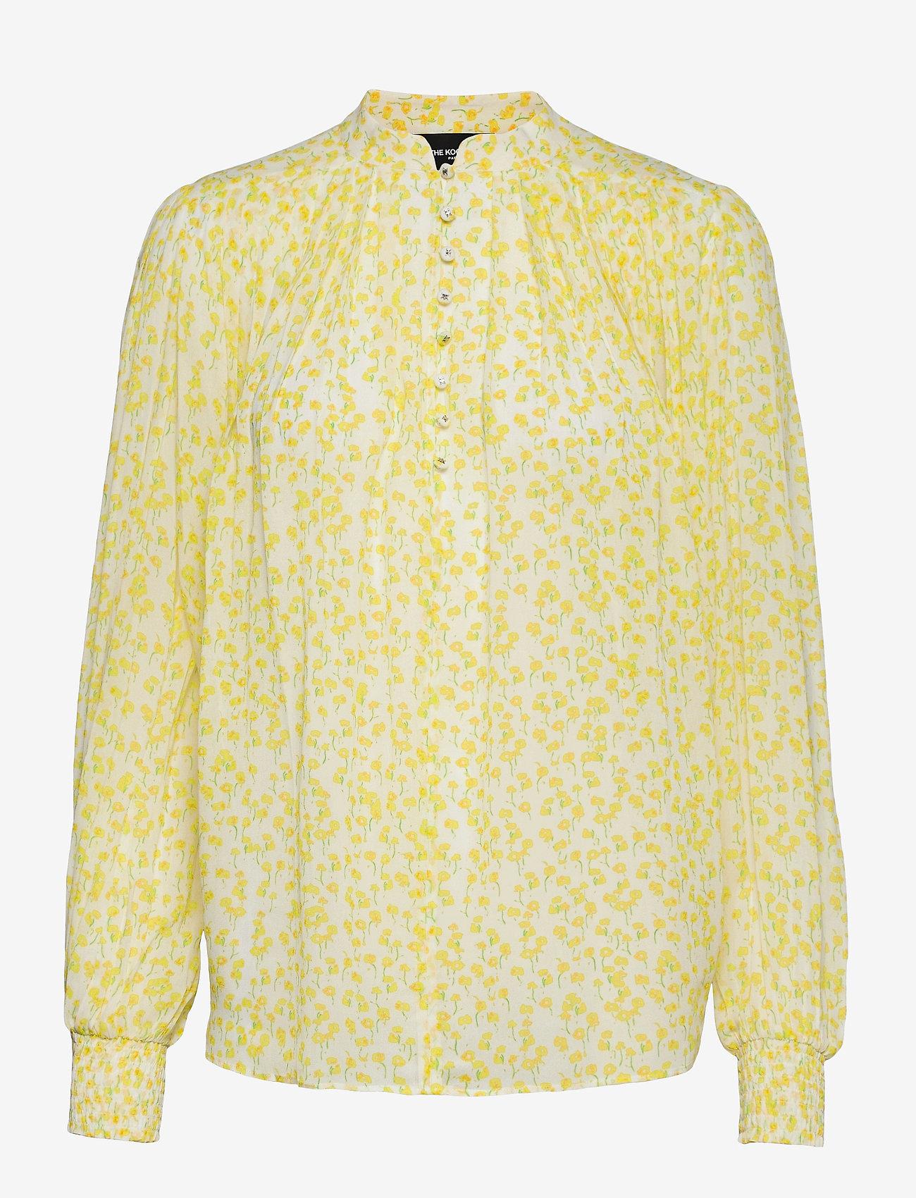 The Kooples - TOP - blouses met lange mouwen - white / deep yellow - 0