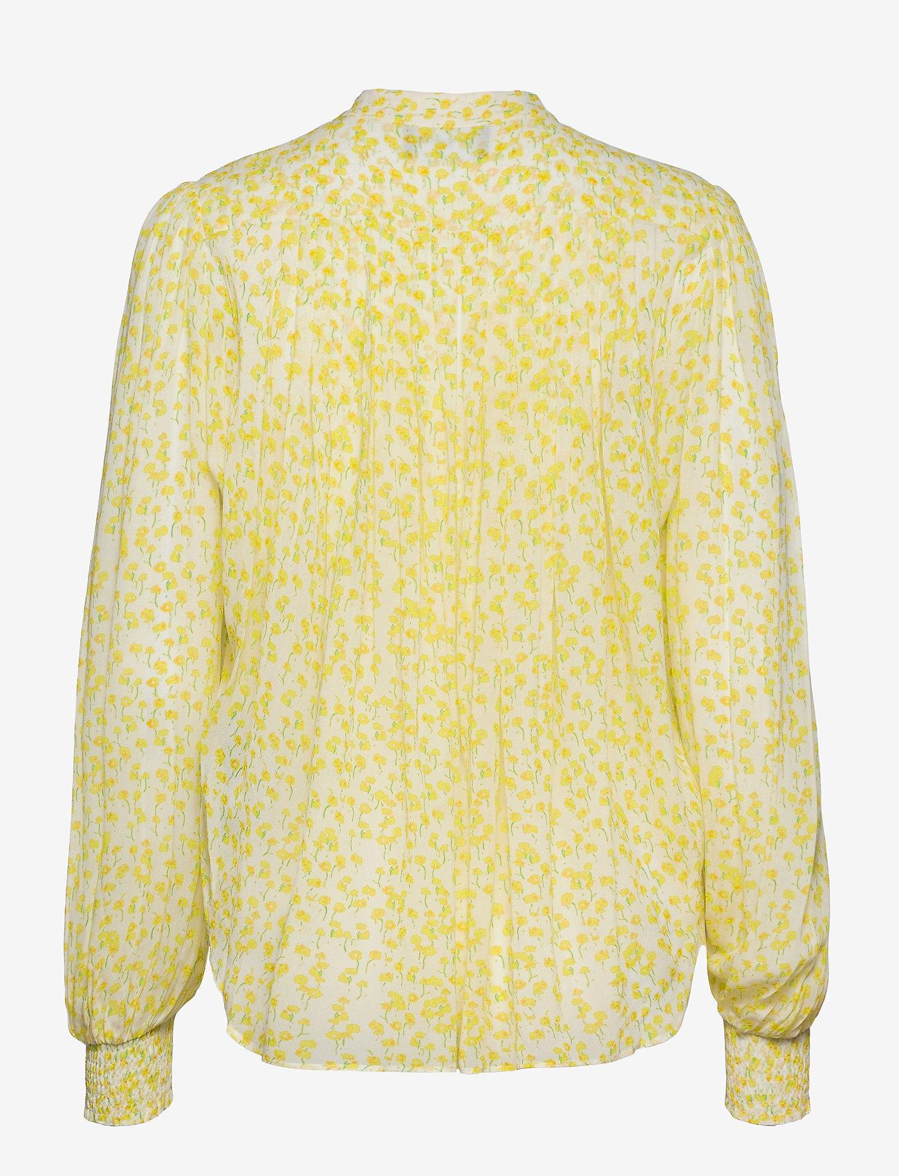The Kooples - TOP - blouses met lange mouwen - white / deep yellow - 1