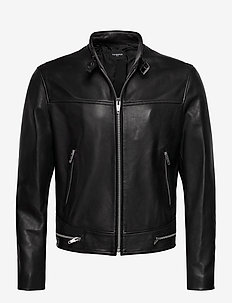 LEATHER JACKET - lederjacken - black