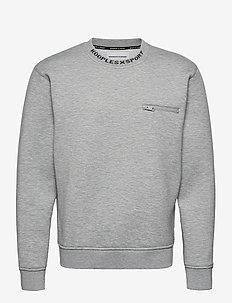 SWEAT - basic sweatshirts - grey melange