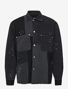 CHEMISE - tops - black grey