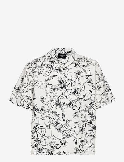 CHEMISE - oxford shirts - white / black