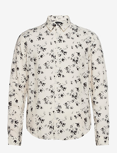 CHEMISE - oxford shirts - off white / black