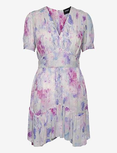 ROBE - zomerjurken - white / lavender
