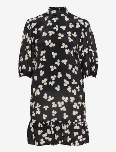 ROBE - midi dresses - black-ecru