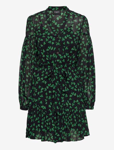 ROBE - midi dresses - black / green
