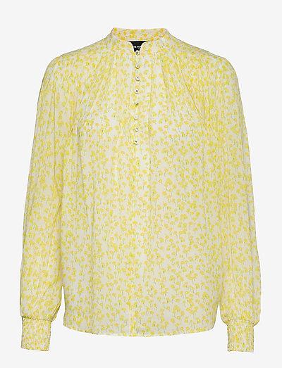 TOP - langärmlige blusen - white / deep yellow