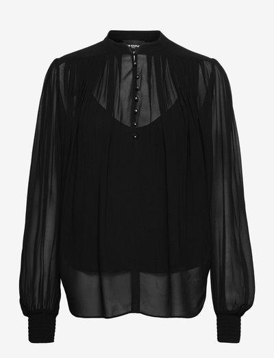 TOP - blouses met lange mouwen - black