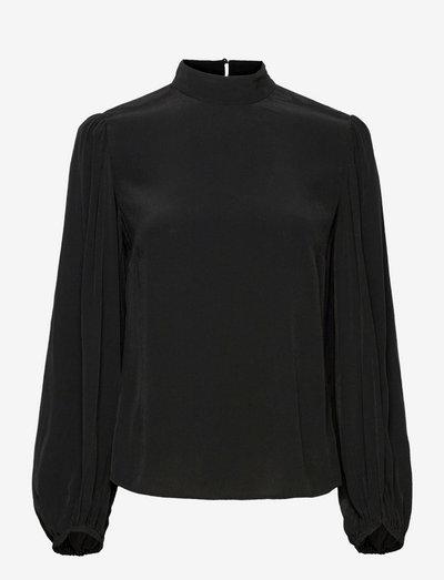 TOP - long sleeved blouses - black