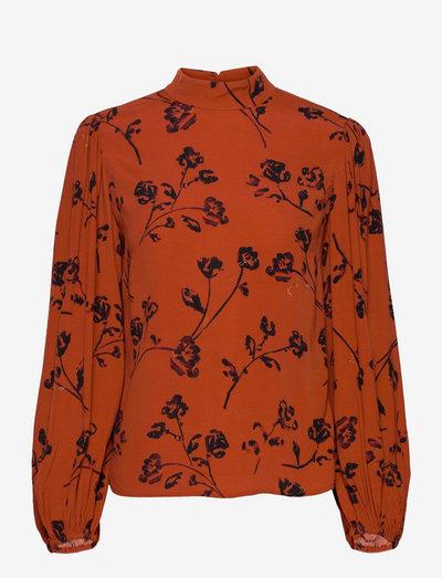 TOP - long sleeved blouses - orange