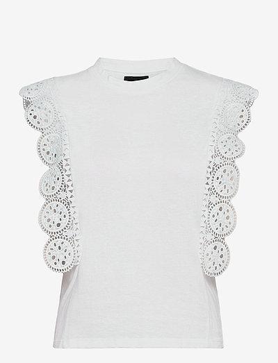 T-SHIRT - sleeveless tops - white