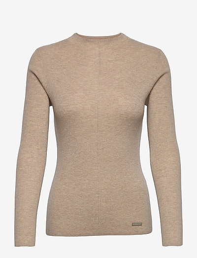 PULL OVER - sweaters - beige