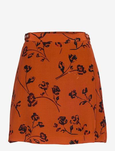 JUPE - short skirts - orange