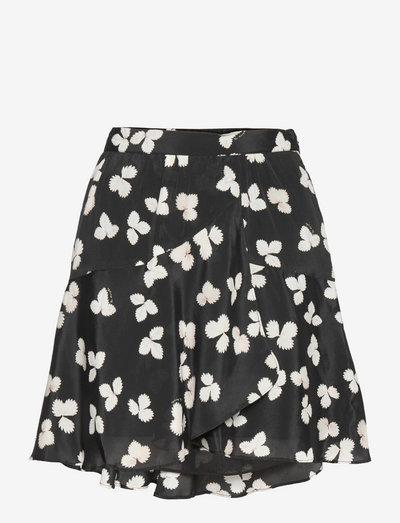 JUPE - short skirts - black-ecru
