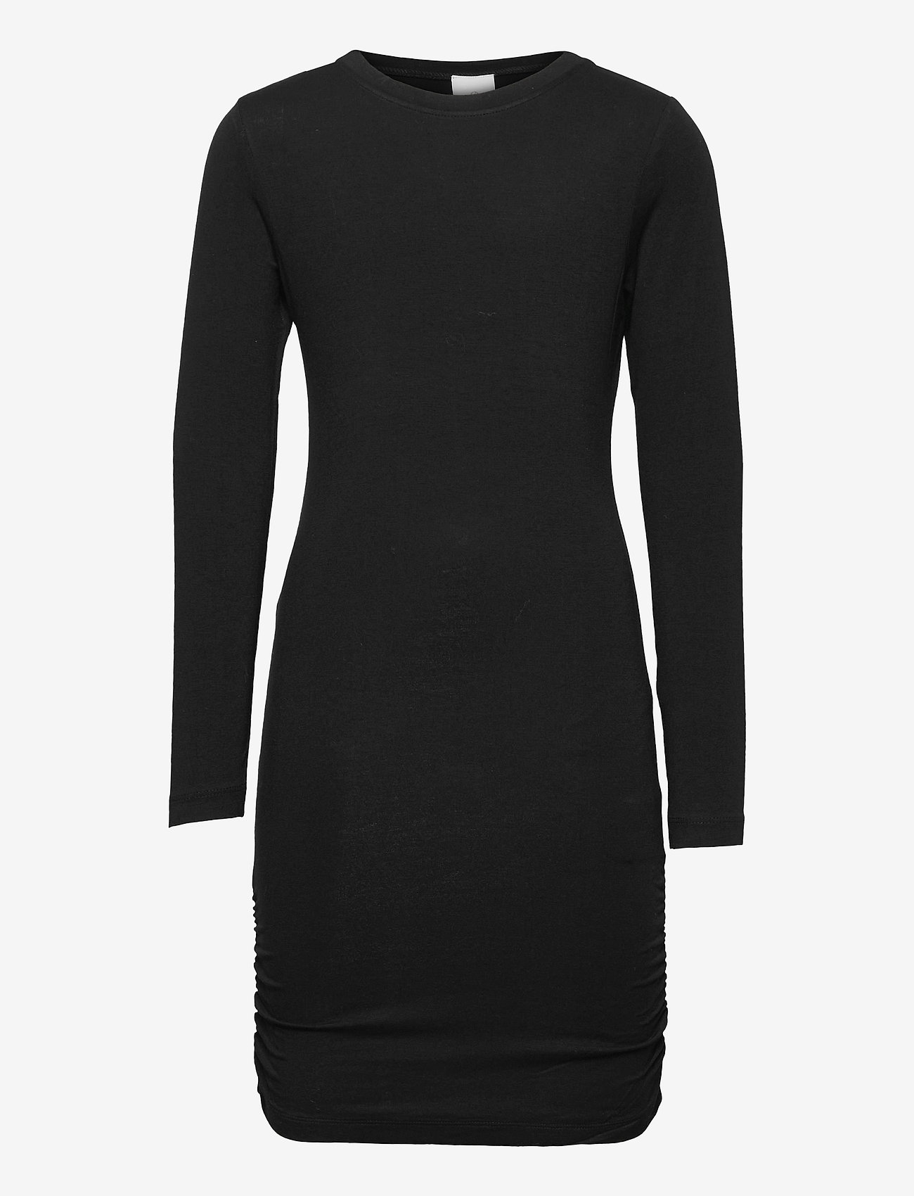 The New - BASIC L_S DRESS NOOS SUSTAINABLE - kleider - black - 0