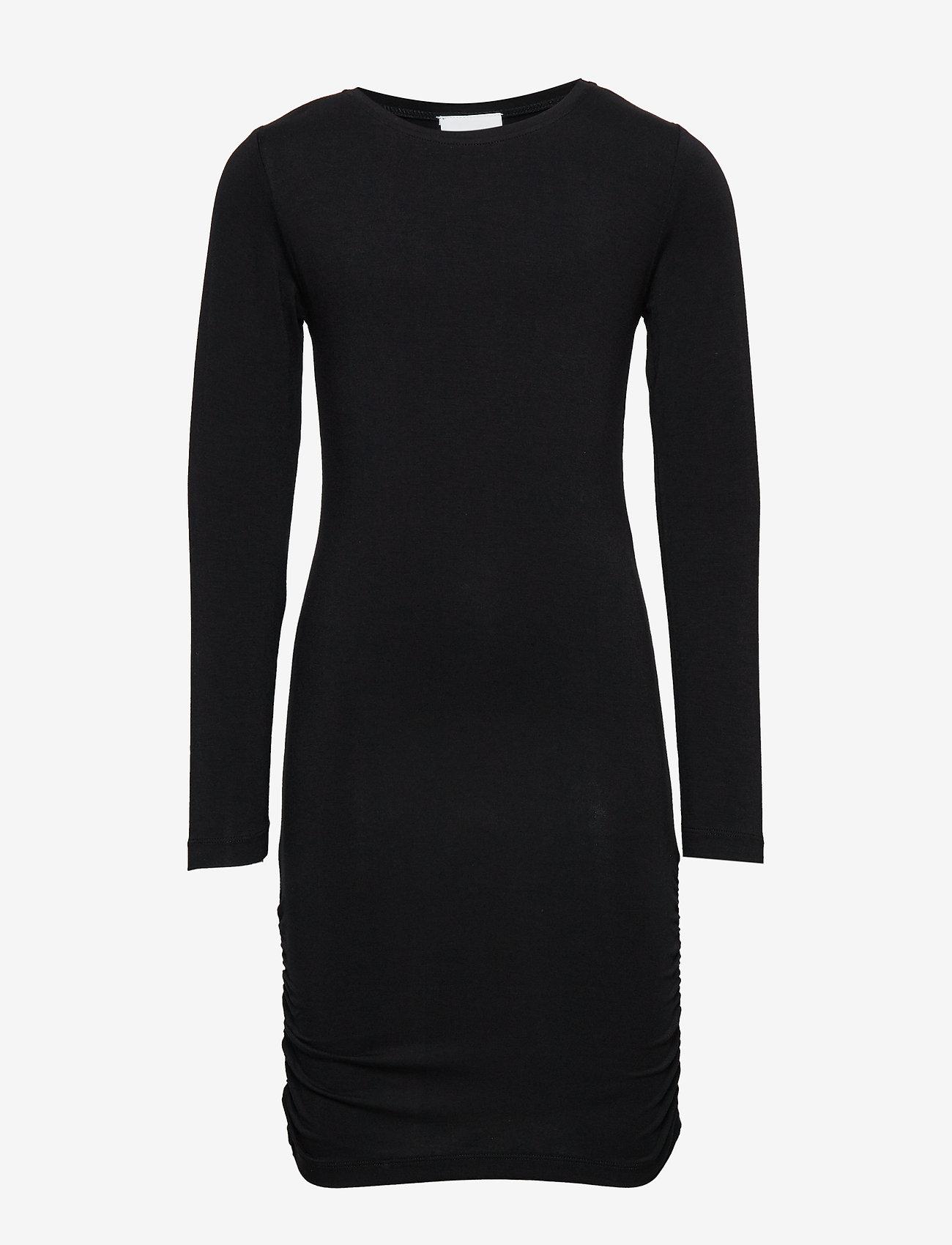 The New - ANUKA L_S DRESS - kleider - black - 0