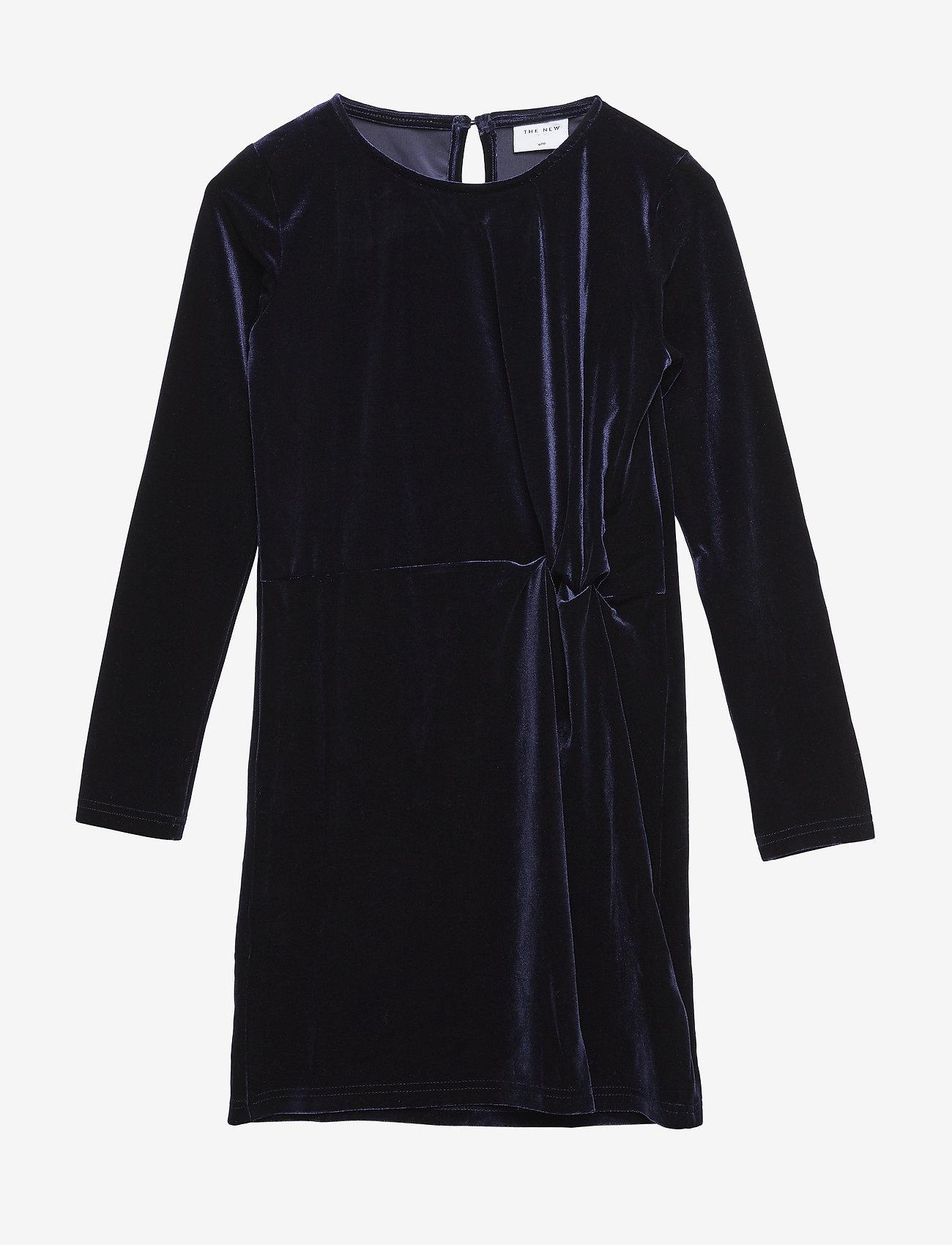 The New - JILLA L_S DRESS - robes - black iris - 0