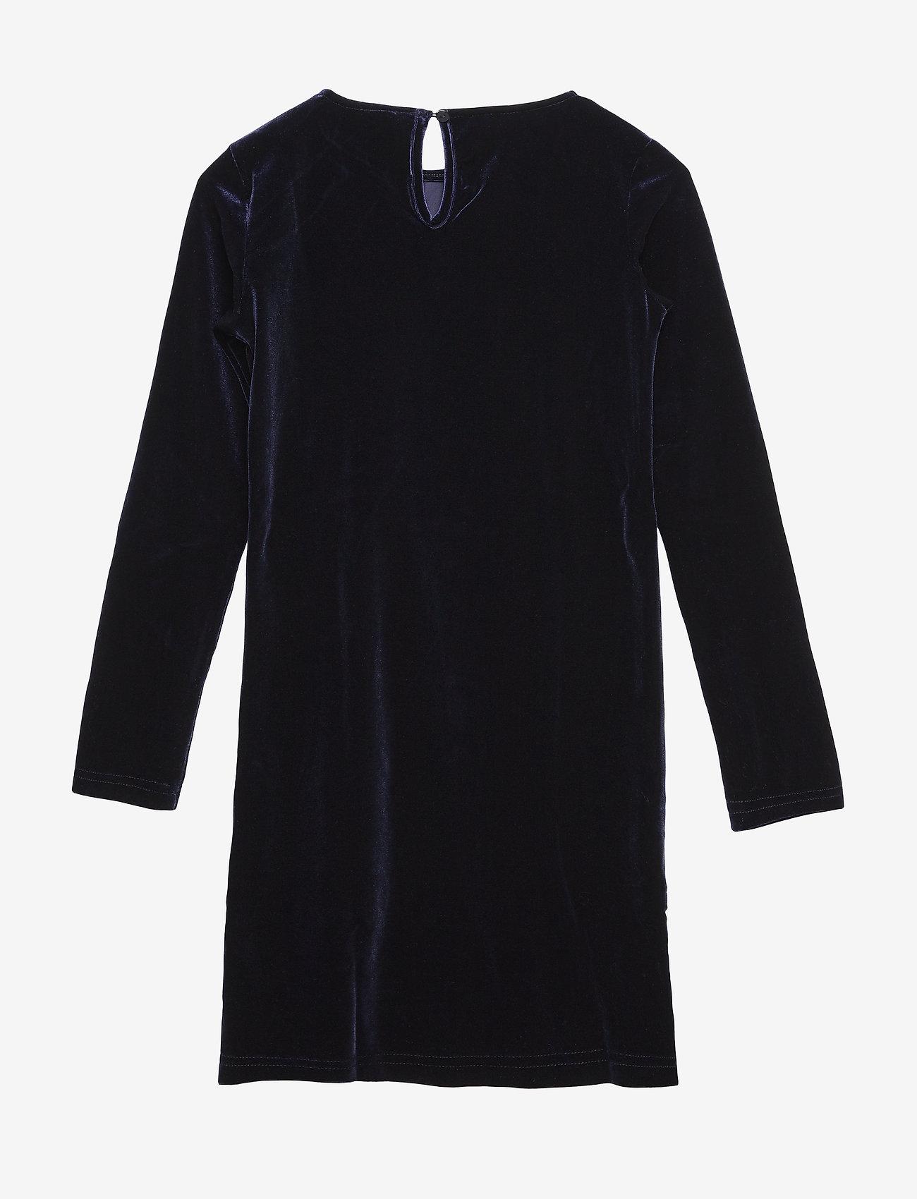 The New - JILLA L_S DRESS - robes - black iris - 1