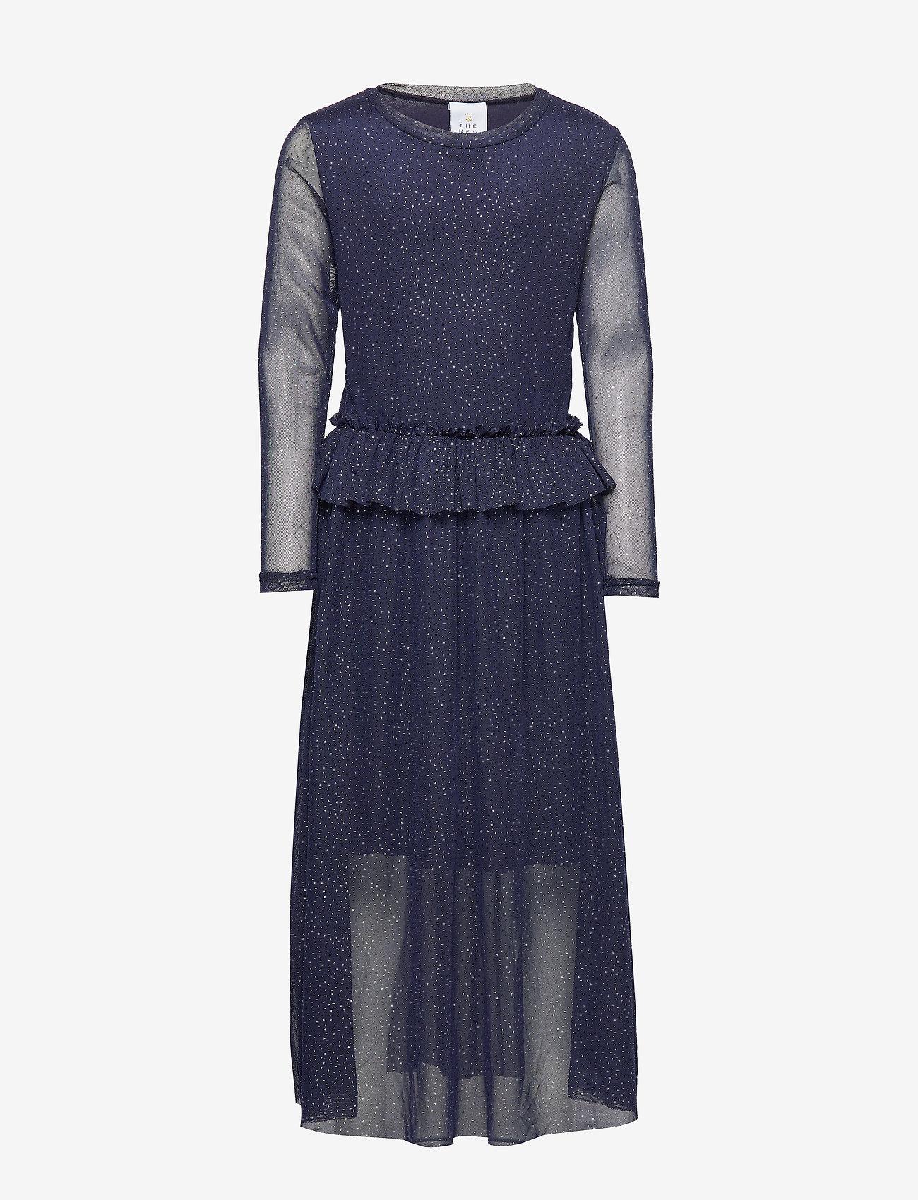 The New - ODESSA L_S DRESS COL BLACK IRIS - kleider - black iris - 0