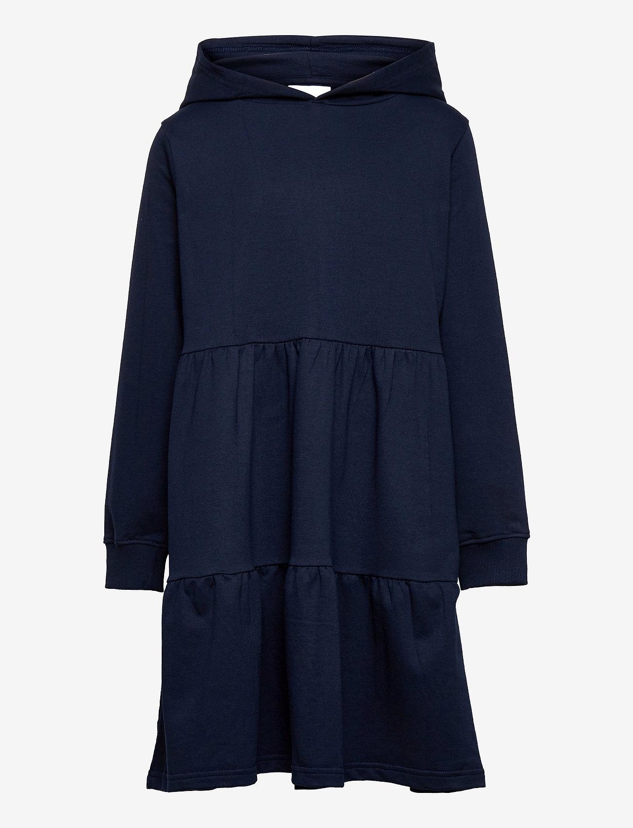 The New - EXIT HOODIE SWEAT DRESS - jurken & rokjes - navy blazer - 0