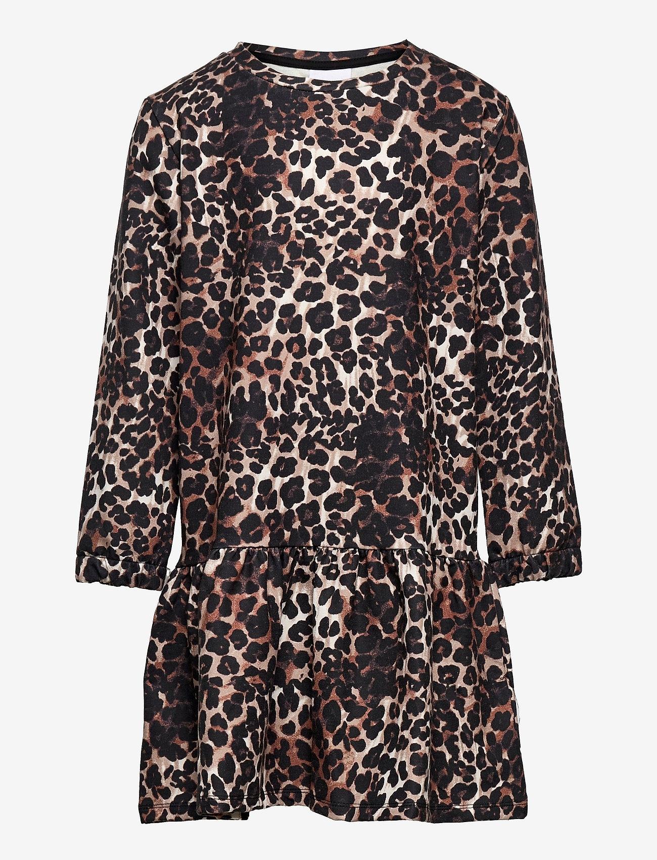 The New - PALEO SWEAT DRESS - kleider - brown leo - 0